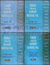 1969 Ford Truck ORIGINAL Shop Manual Set 69 Pickup Van Bronco Repair Service