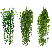 Artificial Fake Hanging Vine Plant Leaves Garland Home Garden Wall Decoration sf