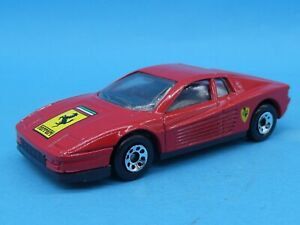 1986 Matchbox Red Ferrari Testarossa Diecast Car Vehicle