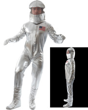 Orion Costume Men Silver Astronaut Space Suit With Helmet Fancy Dress Costume XL