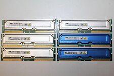 6 x 128 Mb non-ECC RDRAM pc800-45, Samsung® MR16R1624AF0-CK8 RIMM module