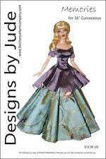 """Memories Doll Clothes Sewing Pattern for 16"""" Curvaceous DeeAnna Tonner"""