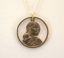 Cut-Out Coin Jewelry, Sacagawea Dollar With Rim