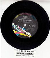 "KYLIE MINOGUE  Shocked 7"" 45 rpm vinyl record + juke box title strip"