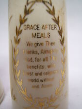 Salt and Pepper Shakers Grace Before and After Meals Prayers Painted On