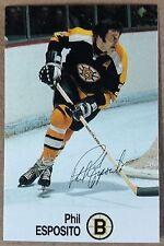 1988-89 PHIL ESPOSITO ESSO MINI STICKER CARD BOSTON BRUINS