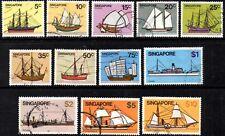 Singapore 1980 Ships - Part Set of 12  SG.365 /376 Used  Sc.#337-48 (Missing 1c)