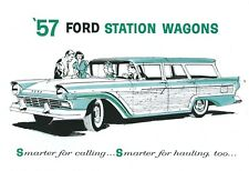 1957  FORD V-8/SIX  STATION WAGON SALES BROCHURE