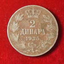 Moneta COIN JUGOSLAVIA JUGOSLAVIJA 2 dinaro Dinara 1925 (f7)