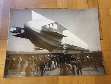 Zeppelin Airship with people underneath in Germany. Big 40x30 cm.