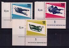 DDR GERMANIA EST 1966 FRANCOBOLLI  MONDIALI SLITTINO YVERT 853-5 NUOVI MNH**