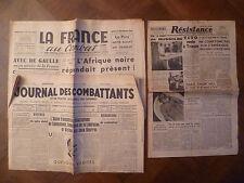 LA FRANCE AU COMBAT~30/11/4+RESISTANCE~²-MOUVEMENT NATIONAL PRISONNIERS GUERRE