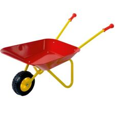 Kinder Schubkarre mit Metall-Wanne Metallschubkarre rot/gelb