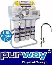 PUR Booster Quick 7 Stufen Direct flow Umkehrosmoseanlage 600 GPD ohne Tank