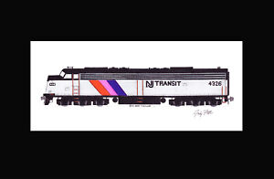 "NJ Transit E8 #4326 11""x17"" Matted Print Andy Fletcher signed"