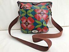 Fossil Key-Per Floral Oilcloth & Leather Trimmed Crossbody Shoulder Bag Handbag