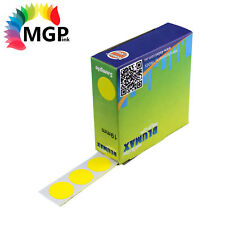 2x Self Adhesive Dispenser Round Circle Dot Labels Yellow 19mm 1000 labels/Pack
