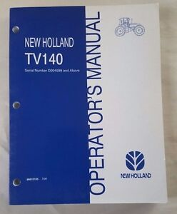 NEW HOLLAND OPERATOR MANUAL TC21 TRACTOR