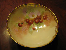 "Fabulous Pickard  Hand Painted Bowl ""Cherries"" Signed REAN"