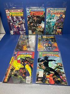 7-Comic Book Lot,1990's, Ultraverse, Firearm-Solution-Prototype-Frey-Strangers