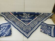 New Lot of 3 Pbr Banadanas Scarf Mask Do Rag Kerchief Pabst Blue Ribbon Beer