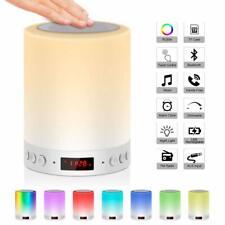 Bedside Lamp Mood Light with Bluetooth Speaker Wake Up Light with FM Radio