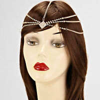 Stunning Statement Gold Crystal Head Chain, Head Band TOWIE By Rocks Boutique