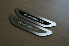"NEW RANGE ROVER EVOQUE 2020 ""CHROME"" DOOR SILL TREAD PLATES REAR SET OF 2"