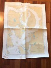 1980 Vintage Canada BC Vancouver Map Nautical Chart 3562 Redonda Island 45X33