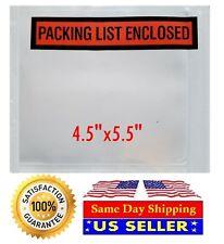 100 45 X 55 Packing List Envelopes 4 12 X 5 12 Invoice Slip Enclosed Pouch
