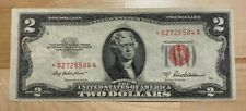 (1) $2 Red Seal STAR NOTES $2 Bills Old Paper Lot Currency 2 Dollar 1953 or 1963