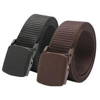 2x ceinture de sangle en nylon tactique unisexe travail ceinture de pantalon de