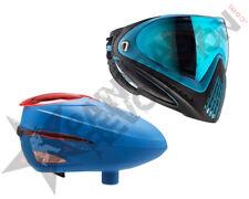 Dye Precision I4 R2 Paintball Mask Loader Combo Powder Blue Patriot