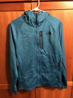 North Face Zip Up Hoodie Polyester Teal Size Small Mens