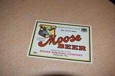 Vintage Moose Beer Label Roscoe Pa Moose Brewing Irtp