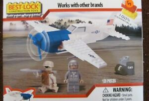 Best Lock US WWII Fighter plane  #91213NRFB 120 pc / 2 figures