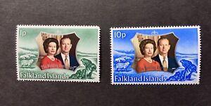 Falkland Islands 1972 Silver Wedding Complete set of 2 LMM