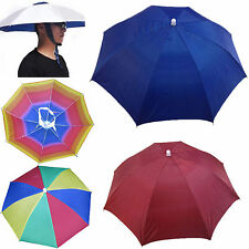 CH Outdoor Foldable Sun Umbrella Hat Golf Fishing Camping Headwear Cap Head Hats