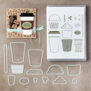 Coffee Take Away Cafe Latte Metal Cutting Dies or Stamps DIY Scrapbooking Card