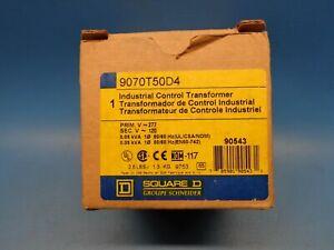 (1) SQUARE D 9070T50D4 50VA CONTROL TRANSFORMER 277V PRIMARY 120V SECONDARY