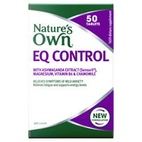 Nature's Own EQ Control 50 Tablets with Ashwagandha Extract Mild Anxiety Natures