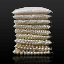 Loose Pearl Beads Round White Beige DIY Jewelry Making Crafts Accessory 3-16mm