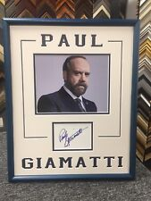 Paul Giamatti Signed Cut Custom Framed Jsa Auto Billions