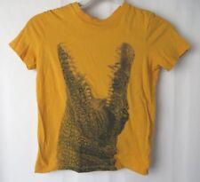 Old Navy Boys T Shirt Short Sleeve Crew Neck Orange w Alligator Sz S 6/7  #7432