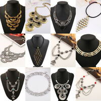 Hot Fashion Womens Chain Statement Collar Bib Pendant Chunky Necklace Jewelry