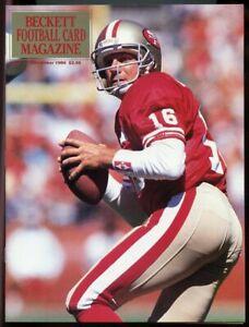 Beckett Football Card Magazine #9 December 1990 Joe Montana 49ers Cover VG
