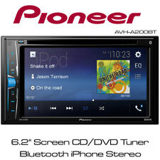 """Pioneer AVH-A200BT 6.2"""" Touch Screen CD/DVD Tuner Bluetooth iPhone iPod Stereo"""