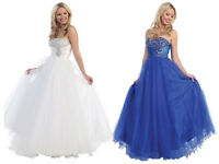 UK Stock Long Evening Formal Party Ball Gown Prom Wedding Bridesmaid Dress 6-18