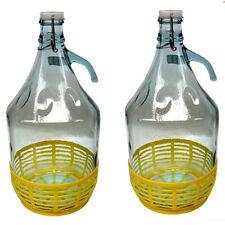 Weinballon 5 l 2 Stück Glasballon gut schließbarem Bügelverschluss Glasflasche