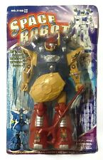 VINTAGE UNBRANDED SPACE ROBOT PLASTIC ACTION FUGURE 8.5 INCHES NEW SEALED CARD